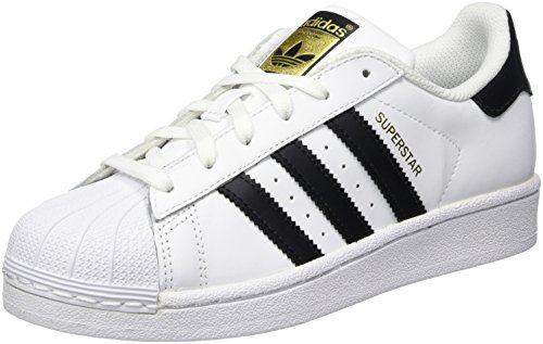 Adidas Unisex-Kinder Superstar J-C77154 Low-Top Weiß Core Black/FTWR White), 38 EU