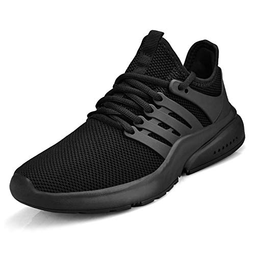 ZOCAVIA Herren Damen Sneakers Leichte Laufschuhe Atmungsaktive Outdoor Sportschuhe Wanderschuhe Schwarz Größe 43