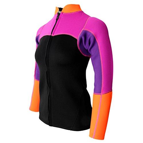 Gazechimp Damen Neopren Jacke langärmel 2mm Neopren Sonnenschutz Wetsuit Shirt - 3XL