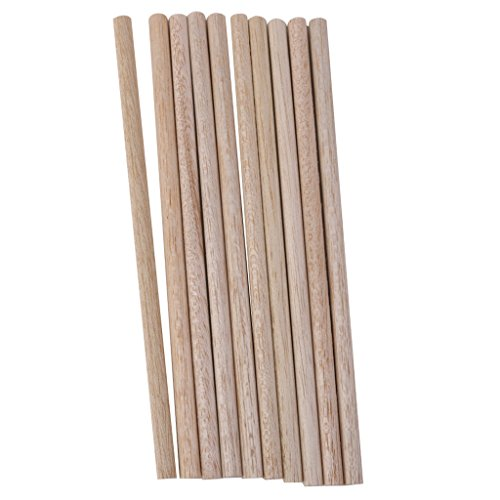 10pcs Runde Naturholz-Sticks HOLZ Diy Hobby Handwerk 8mm (Handwerk Holz-sticks)