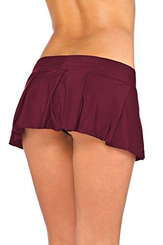 Arunta® Sexy Minirock kurz Schulmädchen Mini Rock Faltenrock Tanz Rock in Schwarz Rot Violett Pink oder Türkis Einheitsgröße XS-M 34-38 Rot