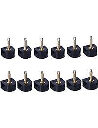 6 pares negro Durable U talón protectores de tapas de tacones de puntas de repuesto para reparación de zapatos…