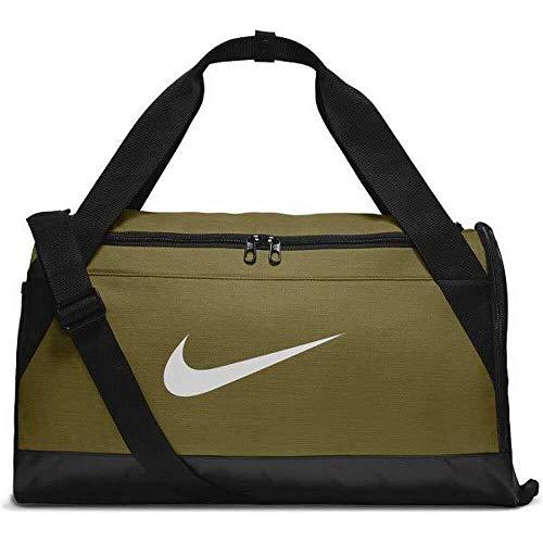 Nike 2018 Sporttasche, 45 cm, 3 liters, Mehrfarbig (Olive Flak/Negro/Blanco)