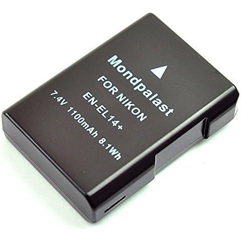 Mondpalast ® EN-EL14 ENEL14 Batería para Nikon D3100 D3200 D5100 D5200 D5300 coolpix P7000 P7100