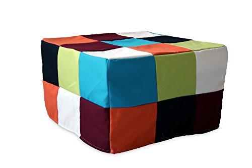 Ponti divani rubik pouf letto singolo con materasso h 10cm di