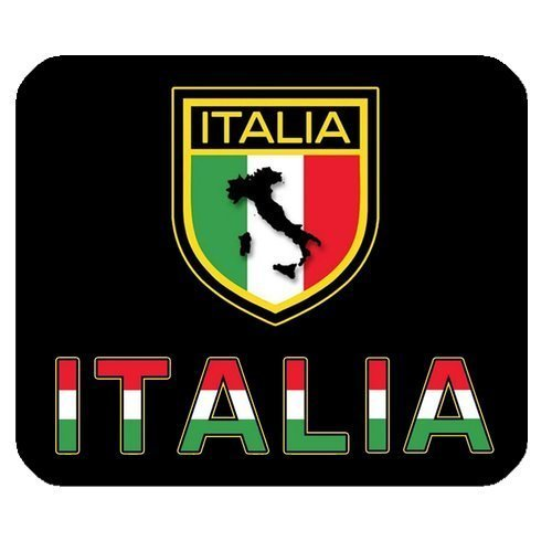 Italia Map and Emblem Personalized Rectangle Mouse Pad (Emblem Map)