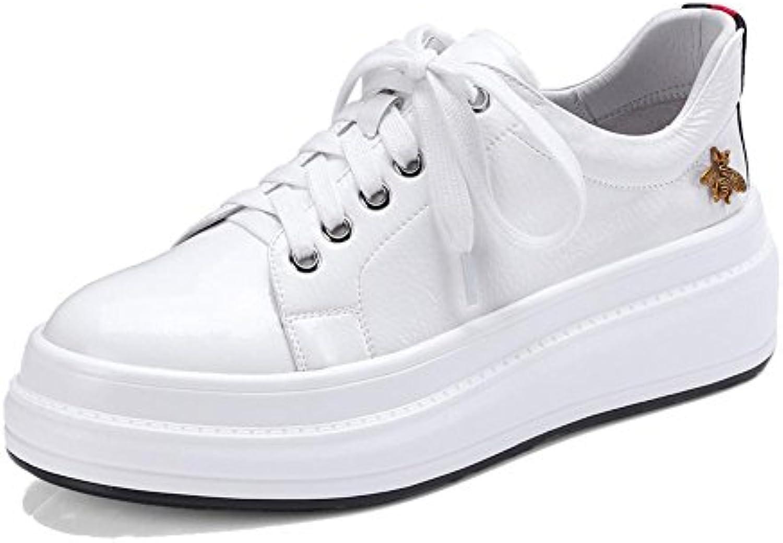 KJJDE Zapatos con Plataforma Mujeres WSXY-A0913 Hermosos y Pequeños Accesorios Plataforma Sólido
