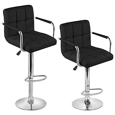 Tinxs New 2 X Cream Colors Adjustable Cuban Swivel Pu Leather Stool Kitchen Breakfast Bar Barstool Chair Gas Lift