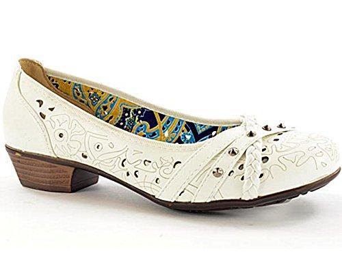 Foster Footwear - Scarpe con Tacco da ragazza' donna White
