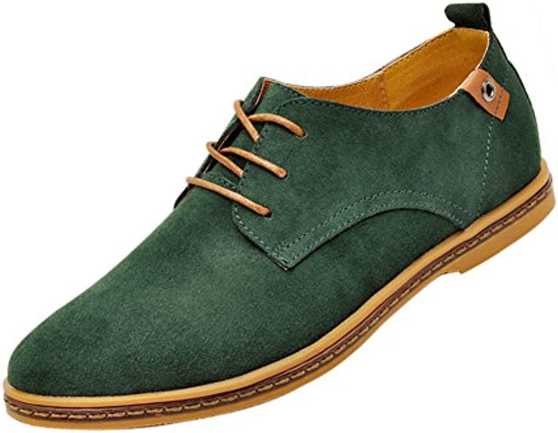 TOOGOO65288R65289 NEU Veloursleder Europaeische Stil Leder Schuhe Herren Oxfords laessig Dunkelgruen 12