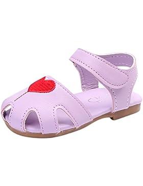 PAOLIAN Verano Zapatos Para Niñas Princesa Calzado Zapatos de Niñito Antideslizante Suela Blanda Bordado Sandalias...