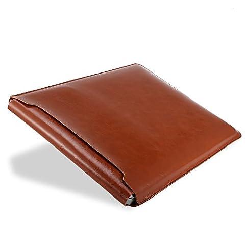Ayotu MacBook Pro 13 pouces Cuir Housse de protection étanche,élégant Cuir souple Housse Coque Sacoche Étui de protection en cuir Laptop Sleeve Pochette Sacoche Housse pour MacBook Pro 13