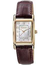 Dugena Damen-Armbanduhr Quadra Artdeco - Traditional Classic Analog Quarz Leder 7000121