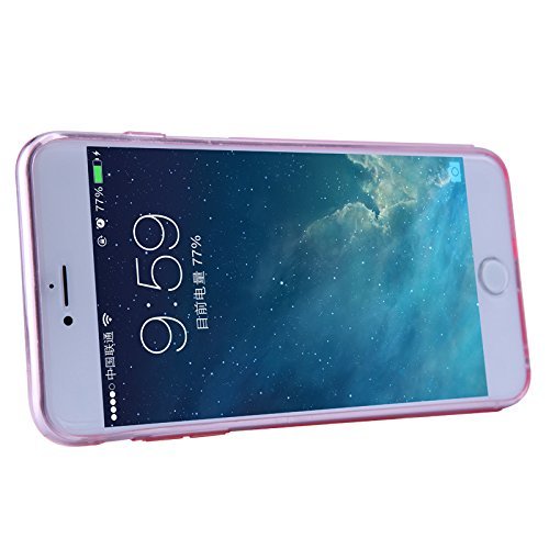 iPhone 6 Plus / iPhone 6S Plus Case + Screen Protector, Nillkin Crystal Clear [Anti-Slip Design] [Integrated Dust Plug] Soft Flexible Extremely Thin Gel TPU Transparent Skin Ultra Slim Rubber Back Cov Pink