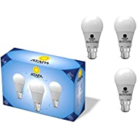 ATAPA 3 x Globo-Lampadine LED A60 10.0 watts, 840 lumen, B22 angolazione della luce a 270°, luce bianco caldo, molto luminoso, 3000 Kelvin, illuminazione per la doccia, del bagno, cucina, soggiorno, veranda, giardino,