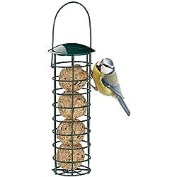 StageOnline Mangeoire À Oiseaux, Distributeur De Nourriture pour Mangeoires À Oiseaux en Plein Air, pour Boules De Graisse pour Boulettes, pour Petits Oiseaux Sauvages Vert Foncé