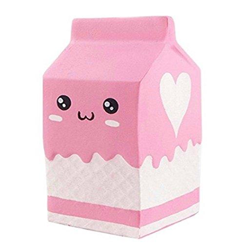 GSEASTBUY Nettes Spaß-Spielzeug, rosa weicher Schaum-Jogurt-Flaschen-Aroma-weiches weiches langsames steigendes verdrängtes Spielzeug