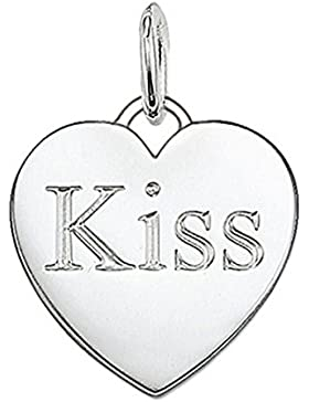 Thomas Sabo Damen-Anhänger Herz Kiss 925 Silber - PE437-001-12