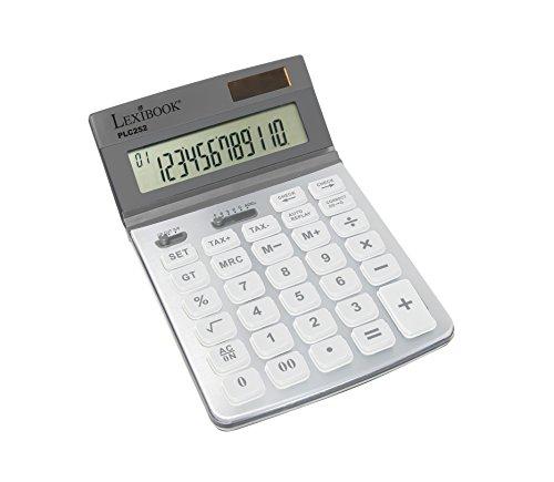 Lexibook PLC 252 Calculatrice de Bureau Professionnelle solaire grand format grise
