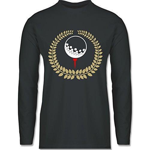 Shirtracer Golf - Lorbeerkanz Golfball Golf-Tee - XXL - Dunkelgrau - BCTU005 - Herren Langarmshirt