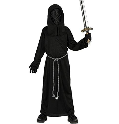 Sensenmann Horror Kinder Kostüm Gr. 110-146, Größe:140/146