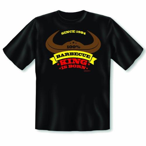 schönes Motiv Geburtstags T-Shirt : King 1984 T-Shirt Schwarz