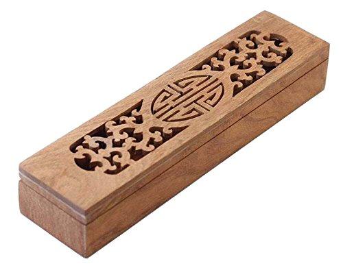 [Xi] Wooden Chopsticks Box Flatware Storage Box Cutlery Organizer Case