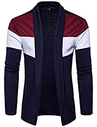 EMERA Men's Solid Cotton Long Sleeve Round Neck Shrug