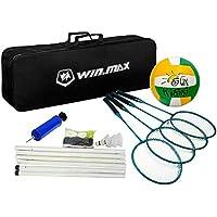 Win.Max Conjunto Combinado de Voleibol de bádminton Raquetas (Badminton Volleyball Combo ...