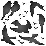 Vogel Schablone–wiederverwendbar Silhouette love Birds in Flight auf Wand Schablone–Vorlage, auf Papier Projekte Scrapbook Tagebuch Wände Böden Stoff Möbel Glas Holz usw. m