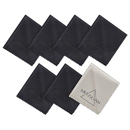 Paños Microfibra Gafas, MOSSLIAN Paños de Limpieza para Teléfonos, Lentes de Cámaras, Tabletas, iPhone, iPad, Pantallas de LCD y Otras Superficies Delicadas(6 x 7