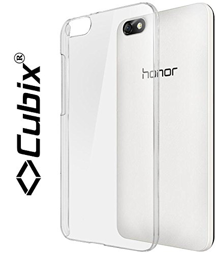 Honor 4X transparent case, [CUBIX] (A GRADE) Ultra Thin transparent hard case Back Cover for Huawei Honor 4X  available at amazon for Rs.299