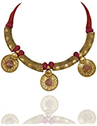 Sansar India Antique Golden Elegant Afghani Traditional Necklace For Girls And Women