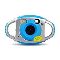 Upgrow Creative Kids Digital Camera Rechargeable Kids Cameras Mini 1.77 inch Screen HD Video Action Camera Camcorder Christmas New Year Birthday Festival Toy Gift for Children Boys Girls (Blue)