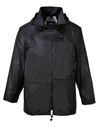 PORTWEST S440BKRL - Klassische Regenjacke, schwarz, Größe: L