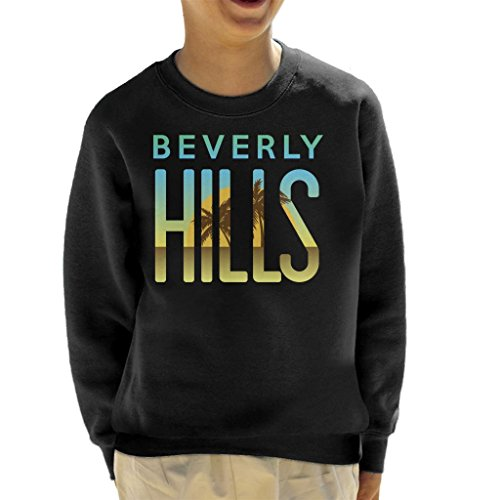 Coto7 Sunset Text Beverly Hills Kid's Sweatshirt
