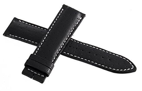 Jaeger LeCoultre Herren Uhrenarmband Schwarz Echt Leder 22mm x 20mm