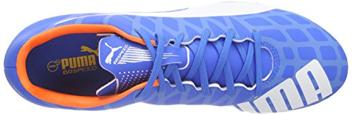 Puma Evospeed 5.4 Ag, Chaussures de football homme Multicolore - Mehrfarbig (electric blue lemonade-white-orange clown fish 03)