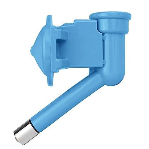 TopEUR animal Buse d'eau automatique Distributeur d'eau potable sans goutte Cat Chien Fontaine tête de bouteille-Blue