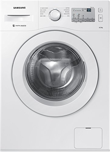 Samsung 6 kg Fully-Automatic Front Loading Washing Machine (WW60M206LMA/TL, White)