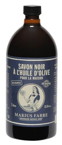 Marius Fabre 'Nature' : Schwarze flüssige Seife Allzweckreiniger 1 Liter Nachfüllflasche