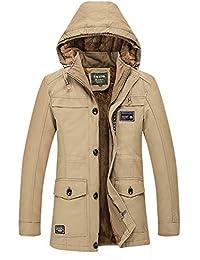 5cac9395c Amlaiworld Chaqueta de Hombre otoño Invierno Cardigan Abrigo de Invierno  para Hombre con Capucha Media de