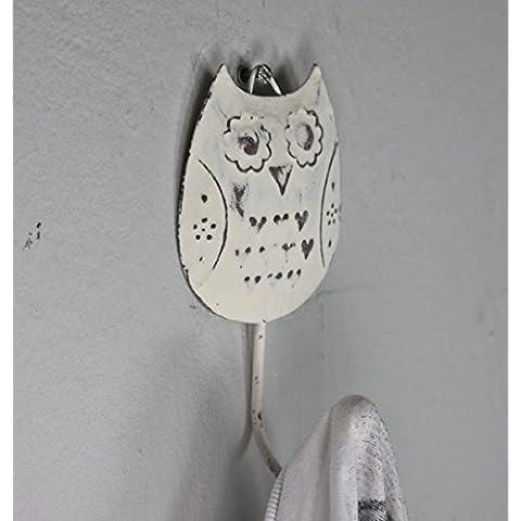 sass y belle gancho perchero blanco metal envejecido de pájaro búho diseño búhos ganchos