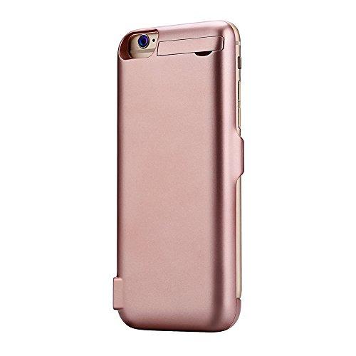 Mondpalast@ Roségold 5500 mah Akkuhülle Batterie Hülle Case externe Batterie Akku Case Hülle Zusatzakku Power Pack Cover für Apple iphone 7 iPhone7 IPHONE 7 4.7 iPhone 7 - Roségold