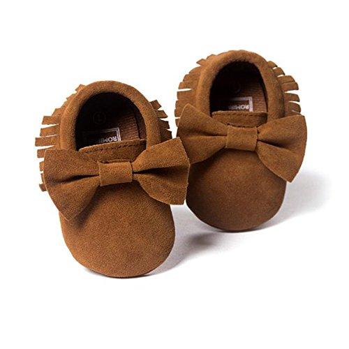 ♥ Loveso ♥ Baby Shoes Schuhe Baby Krippe Quasten Bowknot Schuhe Kleinkind Turnschuhe Freizeitschuhe Kaffee