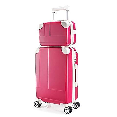 2 Pièces ABS + PC Anti-wrestling En Alliage D'aluminium Trolley Case Mute Caster TSA Customs Password Luggage Luggage 20 Pouces / 24 Pouces ( Couleur : 4 , taille : 20 inch )