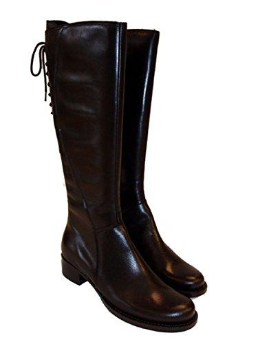 Cafe Noir Damen Stiefel Leder LL288 schwarz Schwarz