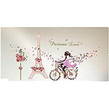 Tefamore Pegatina Adhesivos de pared de vinilo Decoración romántica Cartel de pared Hogar DIY