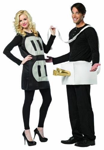 chwarz-weißes leichtes Kostüm für Paare Stecker und Steckdose (Standard) (Schwarz Paare Kostüme)
