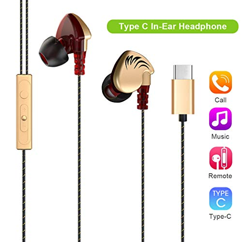 USB Typ C Kopfhörer In Ear Lively Life Type C Ohrhörer Earphones Headphones Headset mit Ohrstöpseln Mikrofon für Motorola Moto Z Huawei P20 Pro P20 Mate 10 Pro Xiaomi MI 8 6 Mix 2 2S Le Pro 3 Gold Gold Motorola Headset